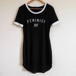 """""""Feminist Af"""" t-shirt dress"""
